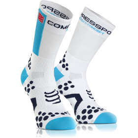 Compressport Racing V2.1 Bike High Socks White/Blue